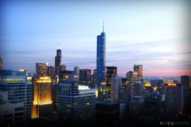 Virginia Duran Blog- Chicago Skyline- Architecture Sunset