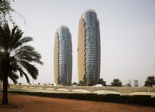 Virginia Duran Blog- Unusual Facades- Al Bahar Towers Origami Architecture