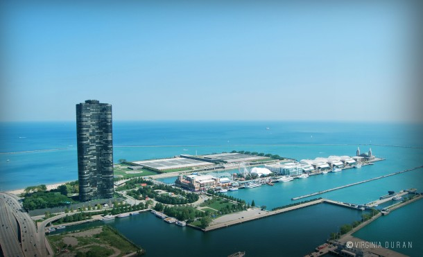 Virginia Duran Blog- Chicago from Above- Lake Point Tower + Navy Pier