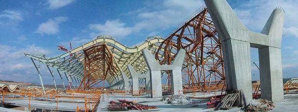 Virginia Duran Blog- Richard Rogers + Estudio Lamela- Madrid Airport- Construction-Exterior 3