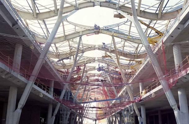 Virginia Duran Blog- Richard Rogers + Estudio Lamela- Madrid Airport- Construction-Roof Interior