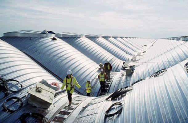 Virginia Duran Blog- Richard Rogers + Estudio Lamela- Madrid Airport- Construction-Roof