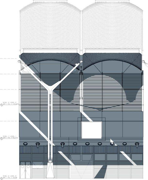 Virginia Duran Blog- Richard Rogers + Estudio Lamela- Madrid Airport- Elevation Facade