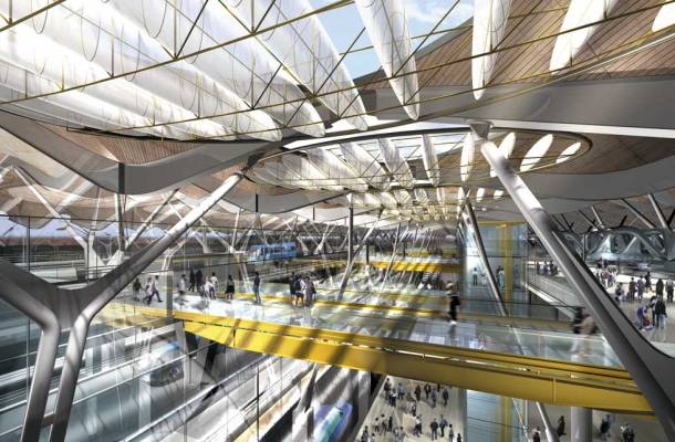 Virginia Duran Blog- Richard Rogers + Estudio Lamela- Madrid Airport- Render