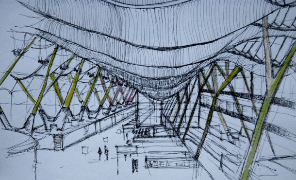 Virginia Duran Blog- Richard Rogers + Estudio Lamela- Madrid Airport- Sketch