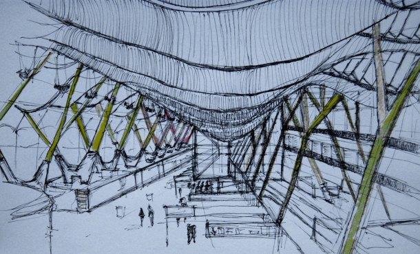 Virginia Duran Blog- Richard Rogers + Estudio Lamela- Madrid Airport- Sketch