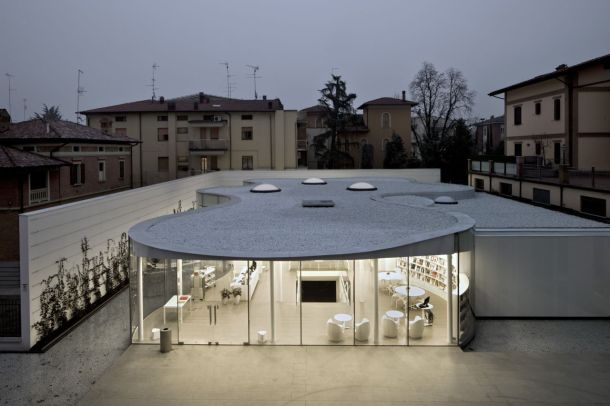 Virginia Duran Blog- Amazing Libraries-maranello-library-andrea-maffei-architects Exterior