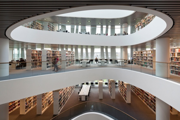 Virginia Duran Blog- Amazing Libraries-Schmidt Hammer Lassen Architects- University of Aberdeen Interior 2