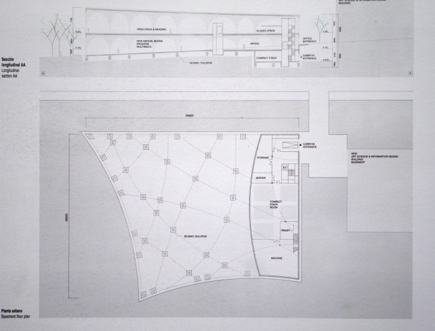 Virginia Duran Blog- Amazing Libraries-Tama Art University Library by Toyo Ito Floor Plan
