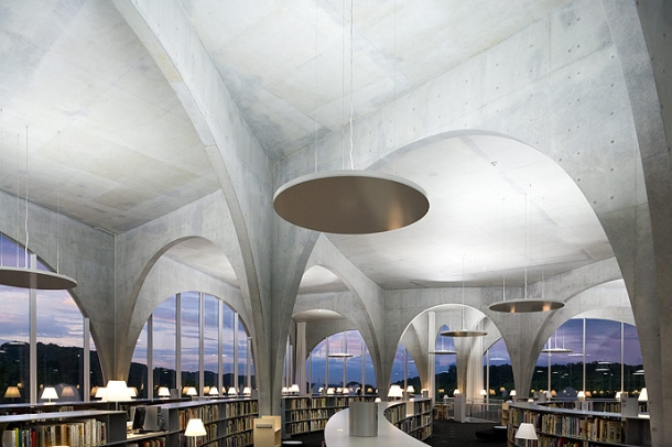 Virginia Duran Blog- Amazing Libraries-Tama Art University Library by Toyo Ito