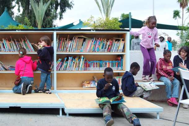 Virginia Duran Blog- Amazing Libraries-The Garden Library for Refugees and Migrant Workers Kids