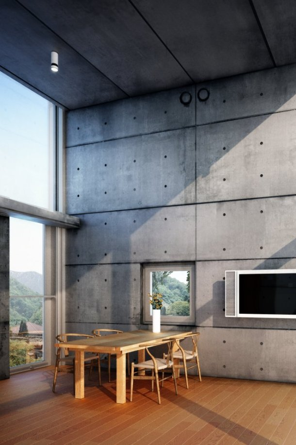 Virginia Duran Blog- Naked Architecture- 4x4 House Tadao Ando Interior