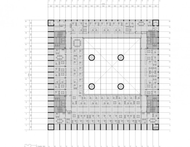 Virginia Duran Blog- Naked Architecture- Caja Granada by Alberto Campo BAeza Floor Plan