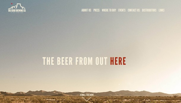 Virginia Duran Blog- Best New Web Design - Inspiration- bigbendbrewing
