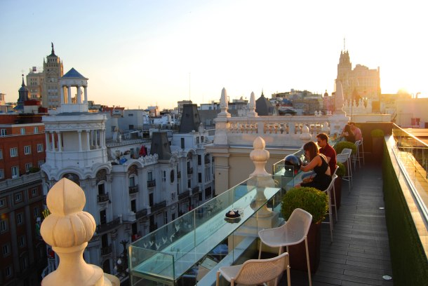 Virginia Duran Blog- Best Rooftops of Madrid- Hotel Ada by Narciso Bermejo Sunset