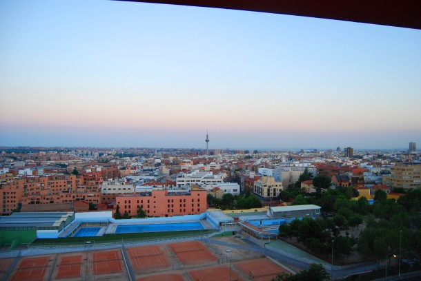 Virginia Duran Blog- Best Rooftops of Madrid- Hotel Silken Puerta de America Views
