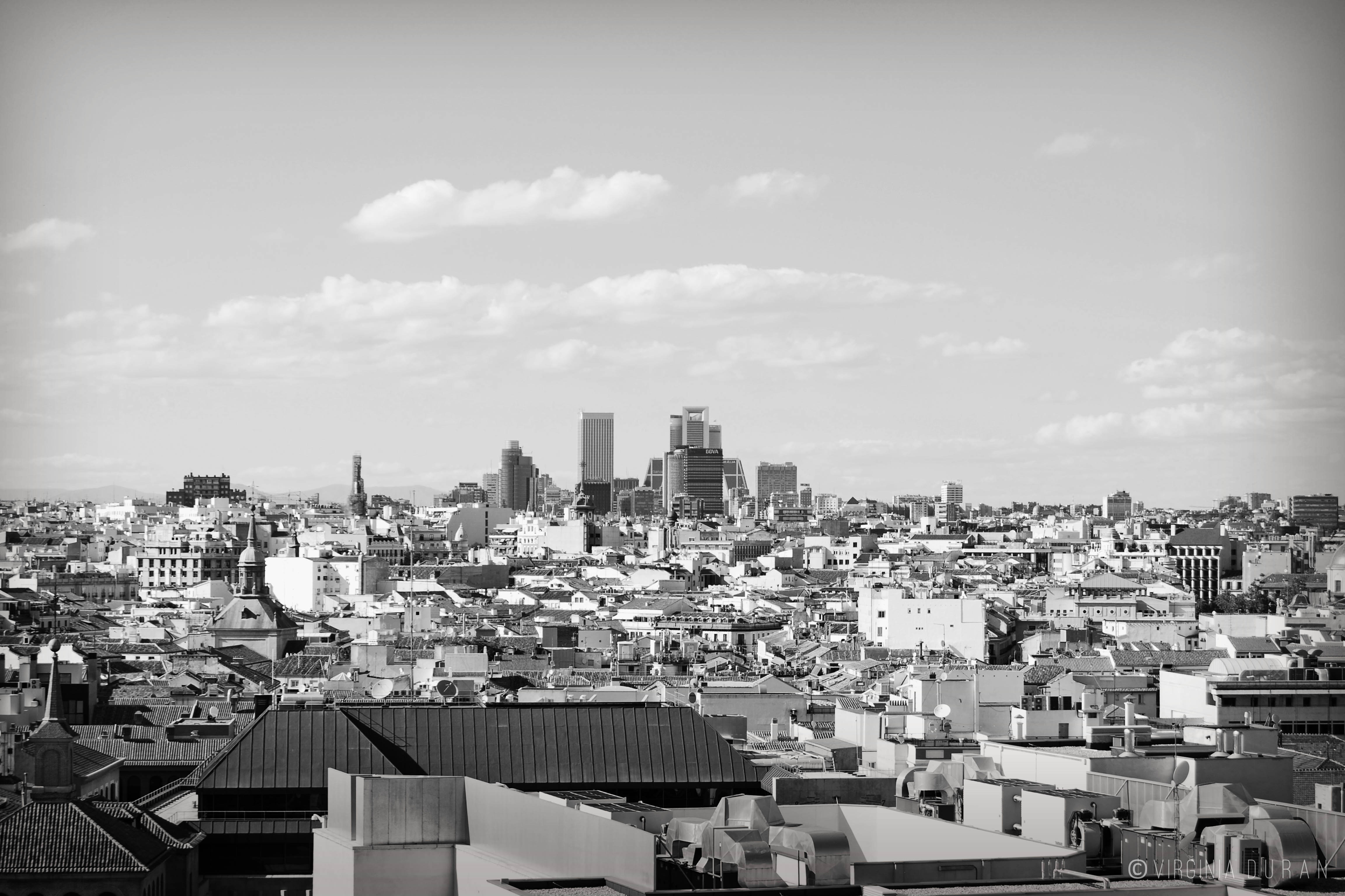 Black And White Madrid 5 skyline photographs of madrid | virginia duran