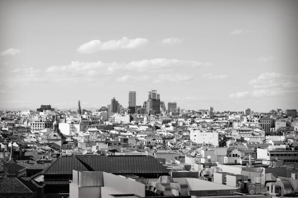 Virginia Duran Blog- Skyline Views Madrid -Black and White -1