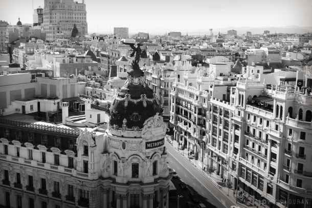 Virginia Duran Blog- Skyline Views Madrid -Black and White -5