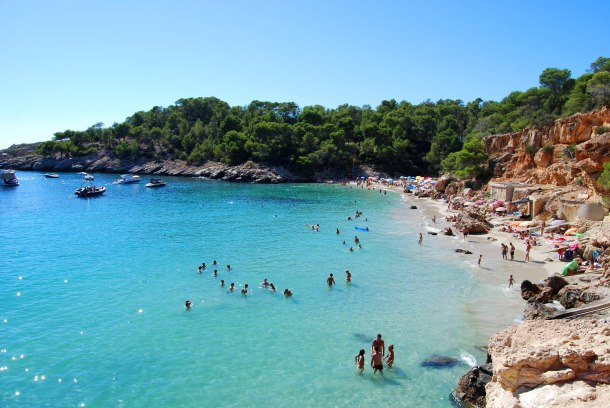 Virginia Duran Blog- The Best 15 Panoramas of Ibiza- Cala Salada Beach
