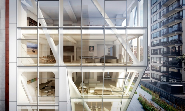 Virginia Duran Blog- Amazing Buildings You Shouldn't Miss Around The High Line- HL23 Apartments by Niel Denari Apartments New York