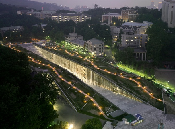 Virginia Duran Blog- Architecture and Education - Ewha Womans University by Dominique Perrault Architecture Exterior
