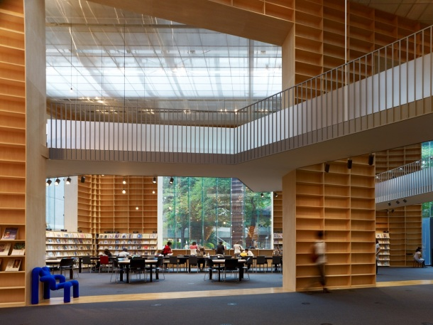 Virginia Duran Blog- Architecture and Education - MUSASHINO ART UNIVERSITY MUSEUM + LIBRARY by Sou Fujimoto Interior
