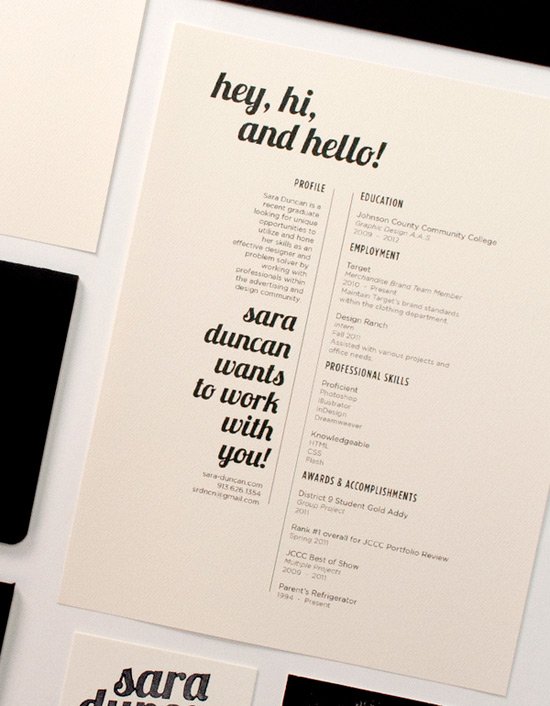 Virginia Duran Blog- Creative Portfolios and Resumes- Sara Duncan