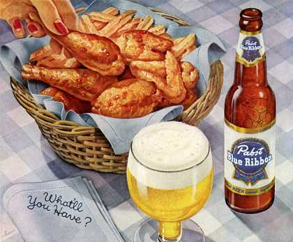 Virginia Duran Blog- Beautiful Print Ads from the Mad Men Period- Blue Ribbon chicken