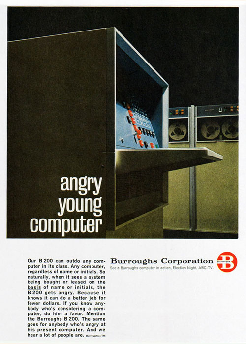 Virginia Duran Blog- Beautiful Print Ads from the Mad Men Period- Burroughs Corporation