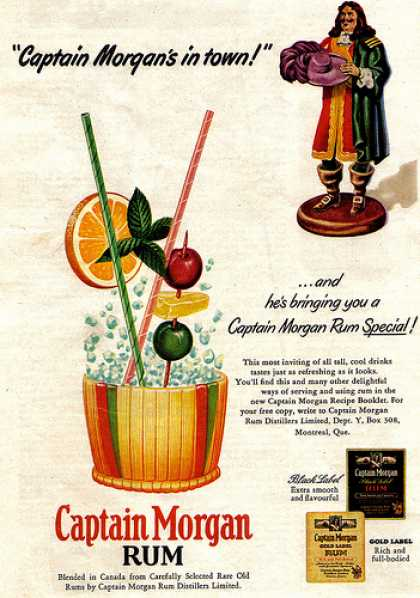 Virginia Duran Blog- Beautiful Print Ads from the Mad Men Period- Captain Morgan