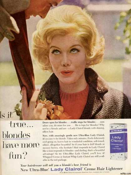 Virginia Duran Blog- Beautiful Print Ads from the Mad Men Period- Clairol (1961)