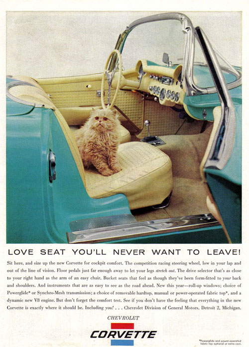 Virginia Duran Blog- Beautiful Print Ads from the Mad Men Period- Corvette