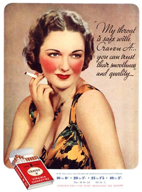 Virginia Duran Blog- Beautiful Print Ads from the Mad Men Period- Craven