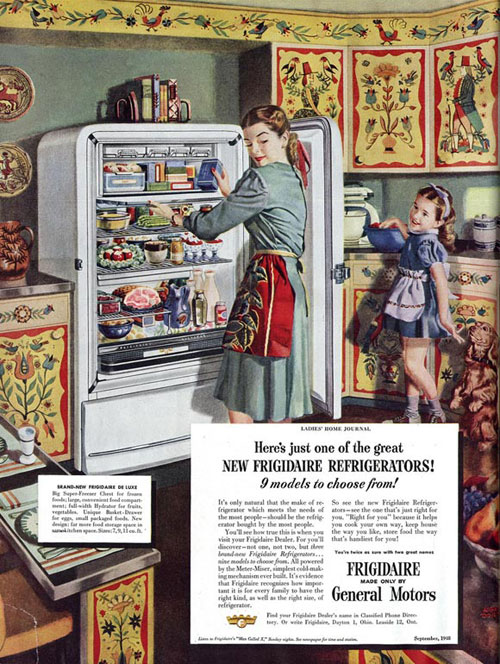 Virginia Duran Blog- Beautiful Print Ads from the Mad Men Period- Frigidaire