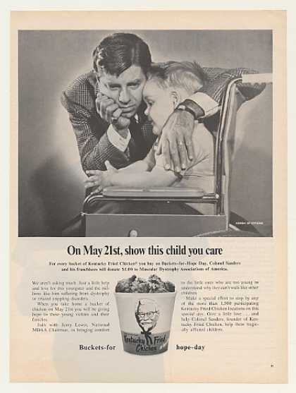 Virginia Duran Blog- Beautiful Print Ads from the Mad Men Period- Jerry Lewis MDA KFC Kentucky Fried Chicken (1968)