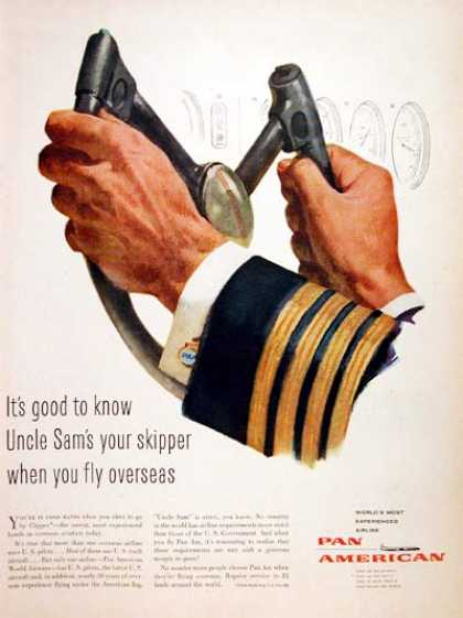 Virginia Duran Blog- Beautiful Print Ads from the Mad Men Period- Pan Am Airlines (1957)