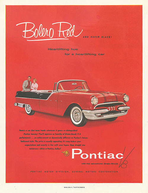 Virginia Duran Blog- Beautiful Print Ads from the Mad Men Period- Pontiac Bolero