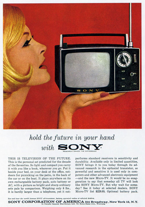 Virginia Duran Blog- Beautiful Print Ads from the Mad Men Period- Sony