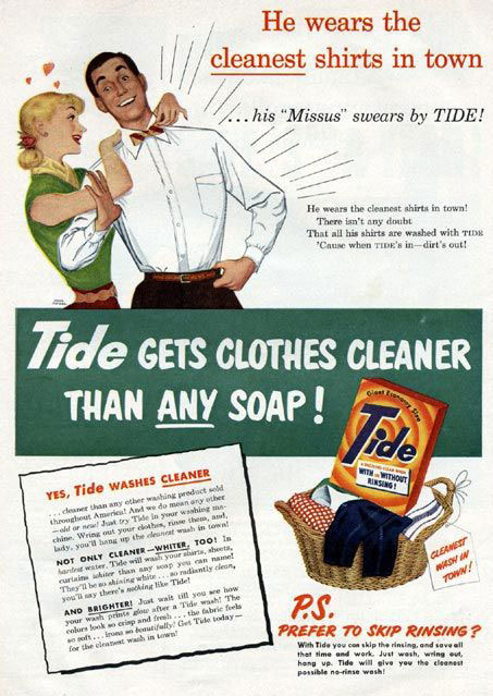 Virginia Duran Blog- Beautiful Print Ads from the Mad Men Period- Tide