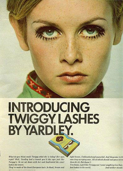 Virginia Duran Blog- Beautiful Print Ads from the Mad Men Period- Twiggy Lashes