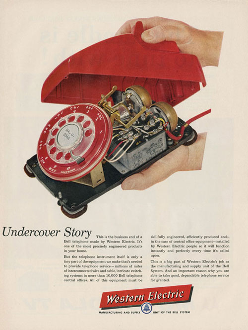Virginia Duran Blog- Beautiful Print Ads from the Mad Men Period- Western Electric
