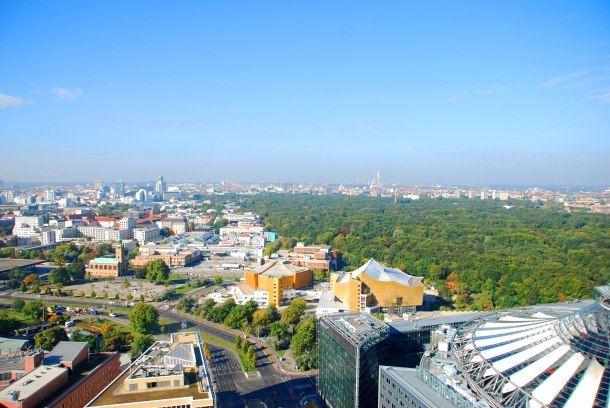 Virginia Duran Blog - Top Rooftops of Berlin - PANORAMAPUNT Skyline Views- Berlin Philharmonic Hall by Hans Scharoun