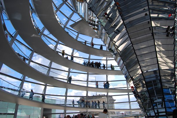 Virginia Duran Blog - Top Rooftops of Berlin - Reichstag Dome by Norman Foster interior views