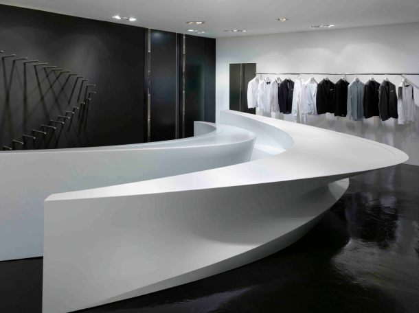 Virginia Duran Blog- 20 Amazing Fashion Stores Designed by Famous Architects- Neil Barrett Flagship Store by Zaha Hadid