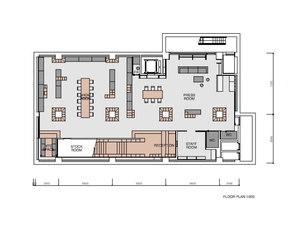 Virginia Duran Blog- 20 Amazing Fashion Stores Designed by Famous Architects- Puma House by Nendo Floor Plan