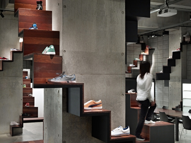 Virginia Duran Blog- 20 Amazing Fashion Stores Designed by Famous Architects- Puma House by Nendo Interior