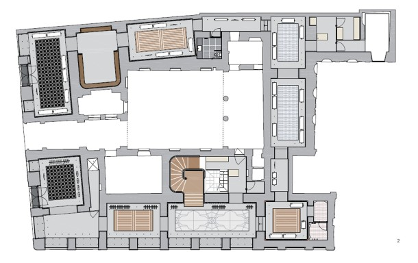 Virginia Duran Blog- 20 Amazing Fashion Stores Designed by Famous Architects- Valentino Miln by David Chipperfield Floor Plan