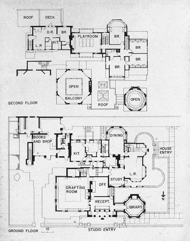 Virginia Duran Blog- Chicago Best Buildings for Architects - Frank Lloyd Wright Studio House Plans