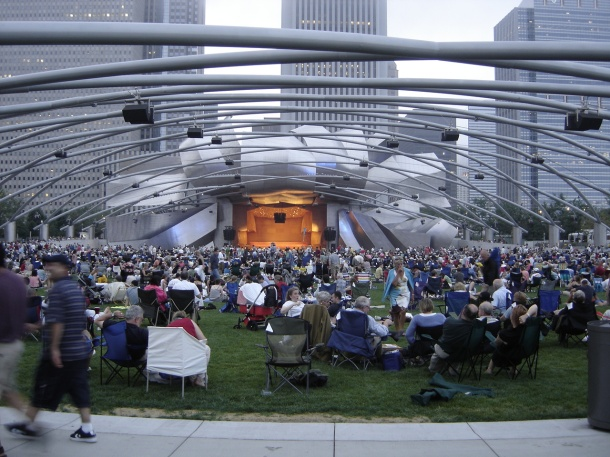 Virginia Duran Blog- Chicago Best Buildings for Architects - Jay Pritzker Pavilion by Frank Gehry